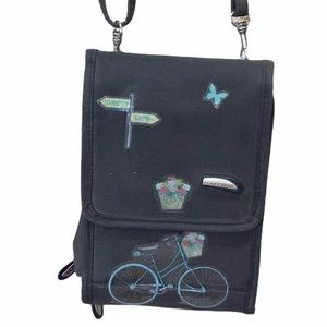 Travelon Bike Flower Print Mini Travel Purse Bag